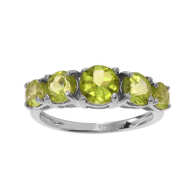 jcpenney.com | Genuine Peridot 5-Stone Sterling Silver Ring