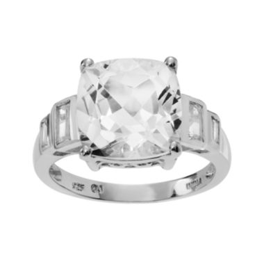 jcpenney.com | Genuine Crystal and White Topaz Sterling Silver Ring
