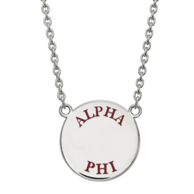 jcpenney.com | Alpha Phi Enamel Sterling Silver Disc Pendant Necklace