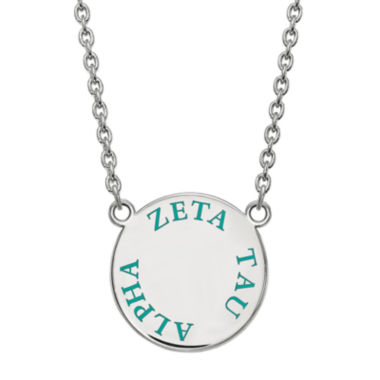 jcpenney.com | Zeta Tau Alpha Enamel Sterling Silver Disc Pendant Necklace