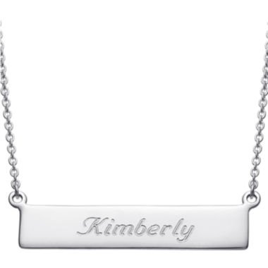 jcpenney.com | Personalized Sterling Silver Cursive Name Bar Necklace