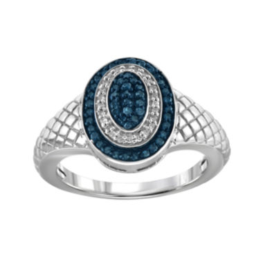 jcpenney.com | 1/4 CT. T.W. White & Color-Enhanced Blue Diamond Sterling Silver Ring