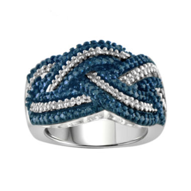 jcpenney.com | 1 CT. T.W. White & Color-Enhanced Blue Diamond Sterling Silver Ring