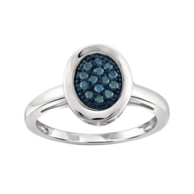 jcpenney.com | 1/5 CT. T.W. Color-Enhanced Blue Diamond Sterling Silver Ring