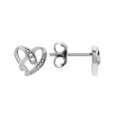 jcpenney.com |  Diamond Accent Sterling Silver Heart Stud Earrings