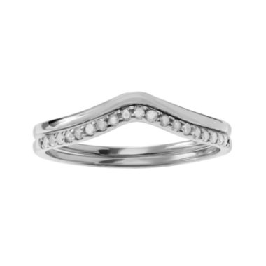 jcpenney.com | 1/5 CT. T.W. Diamond Sterling Silver 2-pc. Ring