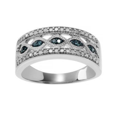 jcpenney.com | 1/2 CT. T.W. White & Color-Enhanced Blue Diamond Sterling Silver Ring