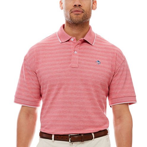 Biscayne Bay Short-Sleeve Striped Polo