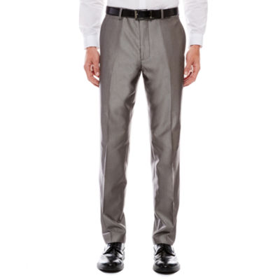 Men's JF J. Ferrar® Silver Luster Flat-Front Straight-Leg Slim Fit Pants