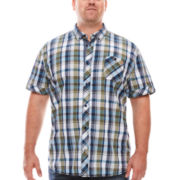 i jeans by Buffalo Mac Short-Sleeve Woven Plaid Shirt - Big & Tall