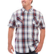 i jeans by Buffalo Maty Short-Sleeve Woven Plaid Shirt - Big & Tall