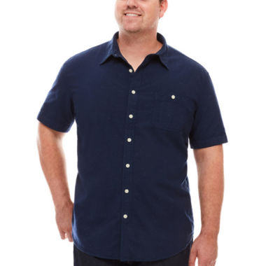 jcpenney.com | The Foundry Supply Co.™ Short-Sleeve Workwear Shirt - Big & Tall