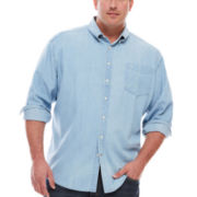 Dockers® Long-Sleeve Chambray Button-Front Shirt - Big & Tall
