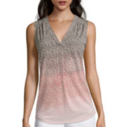 Liz Claiborne® Sleeveless Print Tunic