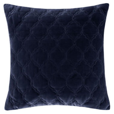 "jcpenney.com | Madison Park Velvet Ogee-Quilted 20"" Square Feather Pillow"