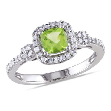 jcpenney.com | Womens 1/6 CT. T.W. Green Peridot 10K Gold Cocktail Ring