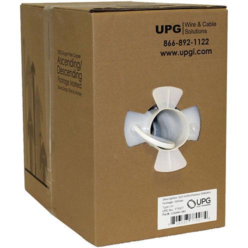 UPG 77007 16-Gauge 4-Conductor 65-Strand Oxygen-Free Speaker Wire; 500ft
