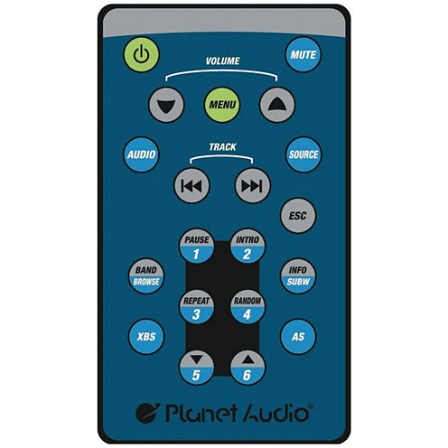 Planet Audio P650MB 6.5IN Double-DIN In-Dash Mechless AM/FM Receiver with Bluetooth