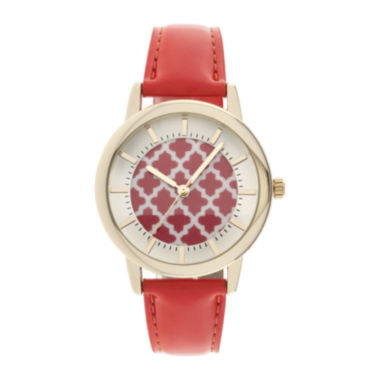 jcpenney.com | Womens Criss-Cross Dial Fashion Watch