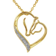 ASPCA® Tender Voices™ Diamond-Accent Mom & Baby Horse Pendant
