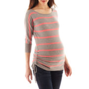 Maternity Neon Striped Sweater - Plus