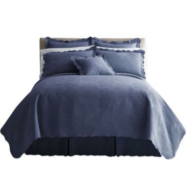 jcpenney.com | Royal Velvet® Abigail Coverlet & Accessories