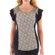 Worthington® Flutter-Sleeve Knit Top - Plus