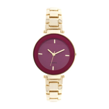 jcpenney.com | Womens Gold-Tone Fashion Watch