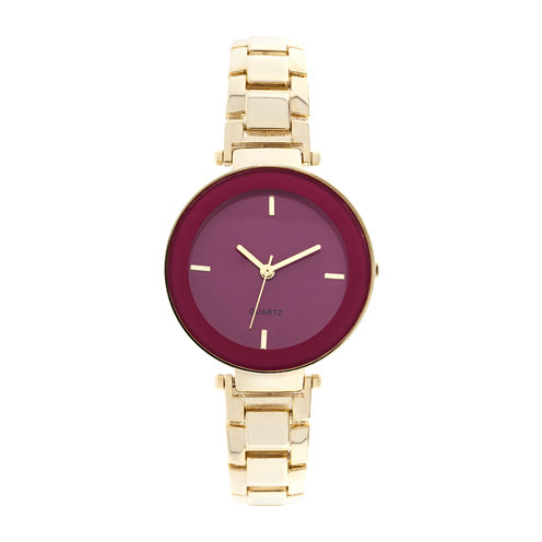 Womens Gold-Tone Fashion Watch