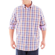 TailorByrd Long-Sleeve Woven Shirt-Big & Tall
