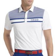 IZOD® Golf Piece-Striped Polo
