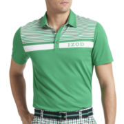 IZOD® Golf Piece-Striped Polo