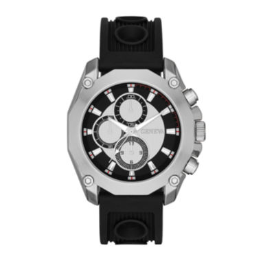 jcpenney.com | Mens Multifunction-Look Black Silicone Strap Watch