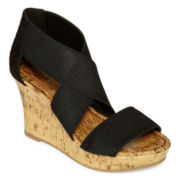 a.n.a® Sammy Strappy Wedge Sandals