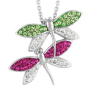 Silver-Plated Dragonfly Pendant Necklace