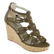 Liz Claiborne® Karmin Wedge Sandals