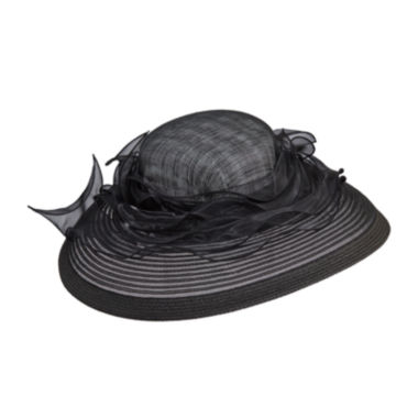 jcpenney.com | Scala™ Organza Ribbon Sinamay Derby Hat