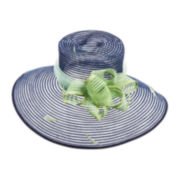 Scala™ Loops and Feathers Sinamay Hat