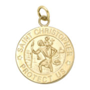 Infinite Gold™ 14K Yellow Gold St. Christopher Medal Charm Pendant
