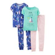 Carter's® 4-pc. Sunshine and Sailboats Pajama Set - Girls 4-7