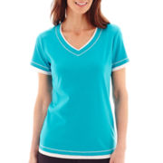 Made For Life™ Short-Sleeve Layered T-Shirt - Petite