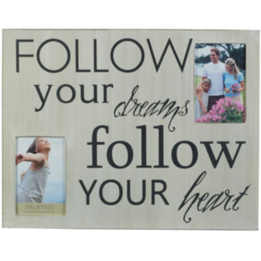 "jcpenney.com | Melannco® Follow Your Dreams and Heart 2-Opening 4x6"" Collage Picture Frame"