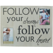 Melannco® Follow Your Dreams and Heart Collage Picture Frame