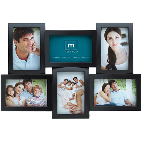 """Melannco® 6-Opening 4x6"""" Collage Picture Frame"""