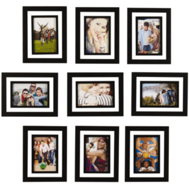 "jcpenney.com | Melannco® Set of 9 4x6"" Picture Frames"