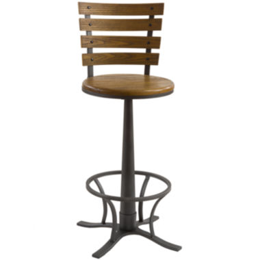jcpenney.com | Crosby Swivel Barstool with Back