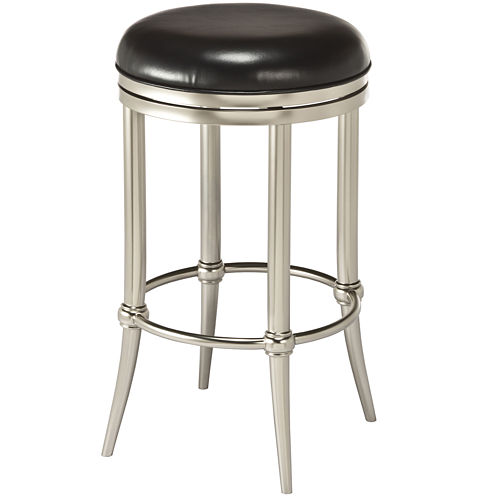 Hoffman Backless Swivel Barstool - Matte Finish