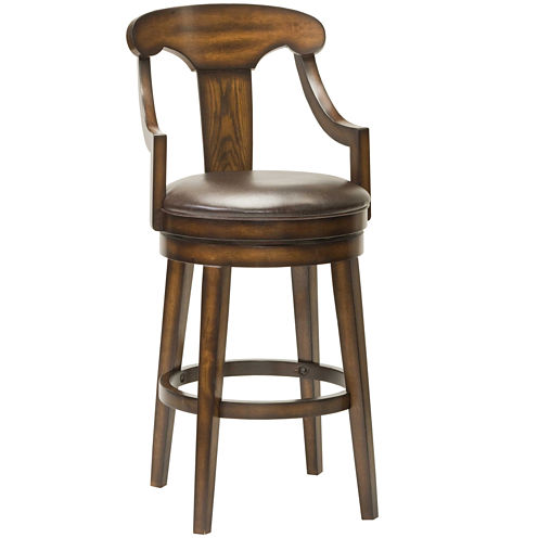 Southaven Swivel Barstool with Back
