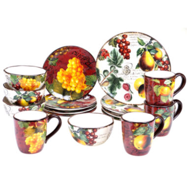 jcpenney.com | Certified International Botanical Fruit 16-pc. Dinnerware Set