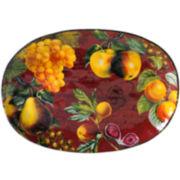 Certified International Botanical Fruit Oval Platter